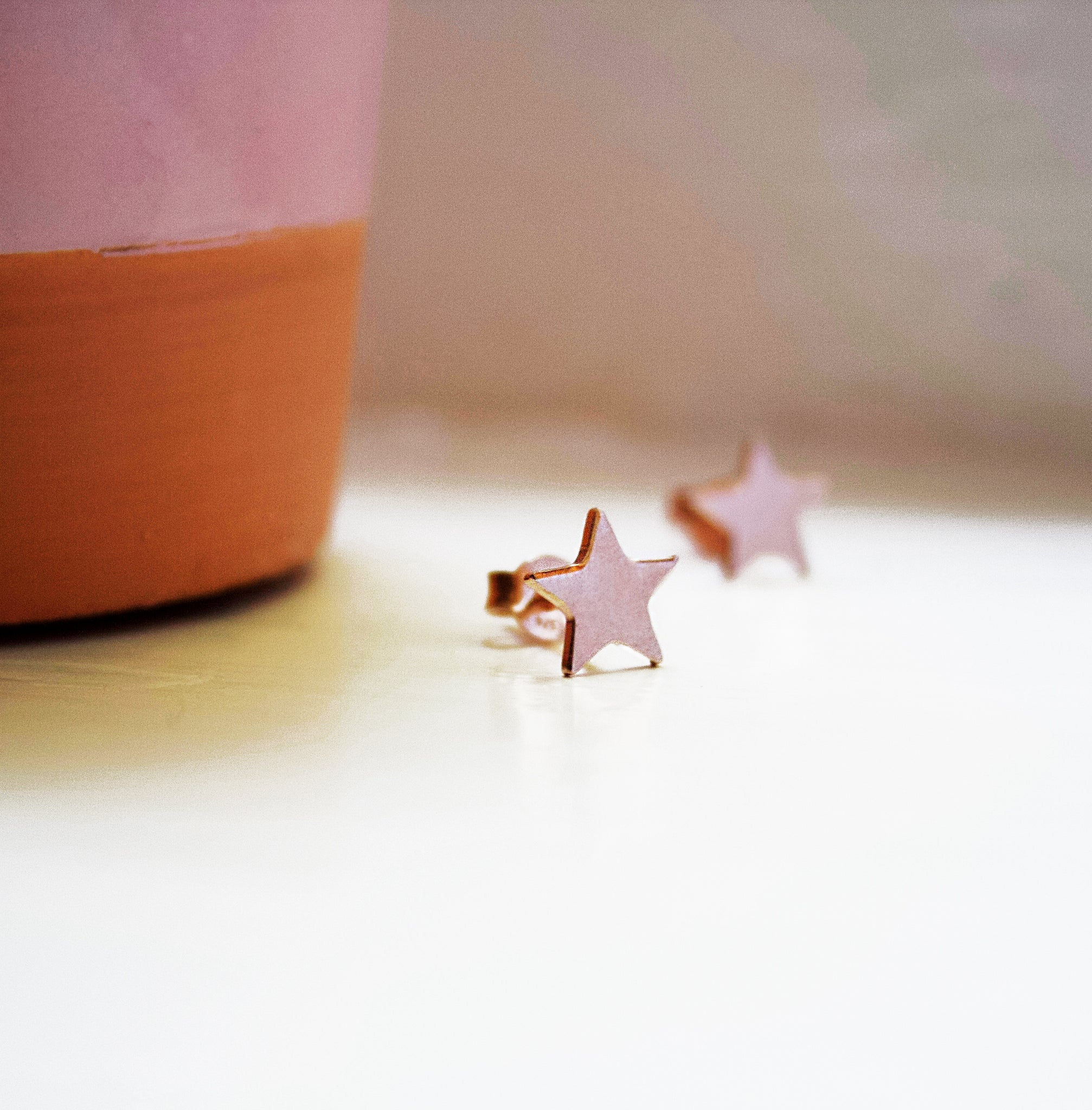 La STELLINA Studs in Rose Gold