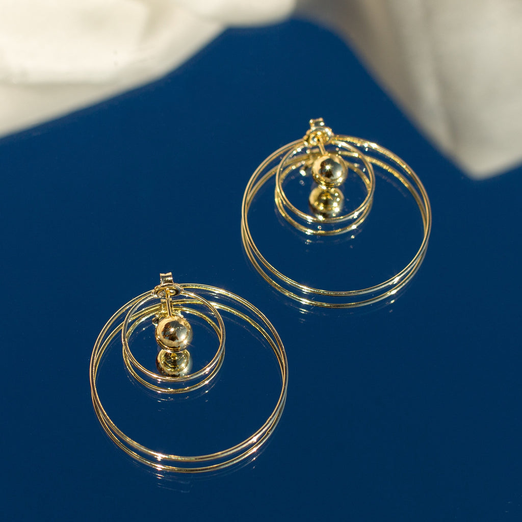 La DOPPIA CIRCOLO Earrings - Gold - Georgiana Scott Jewellery