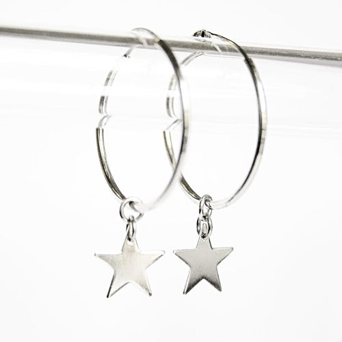 La STELLA CHARM Hoops (Detachable Stars)