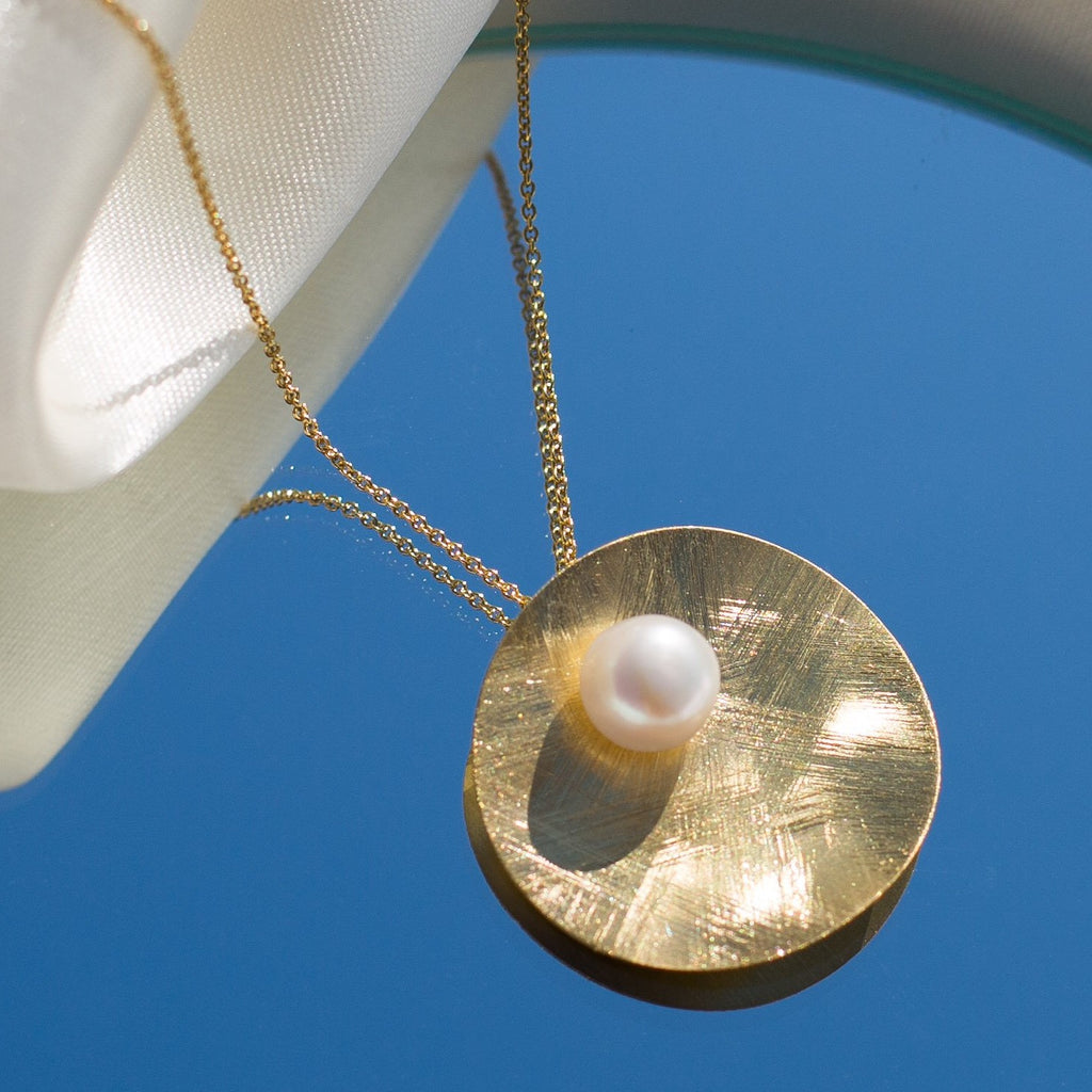 La SATINA Pearl Pendant - Gold or Silver - Georgiana Scott Jewellery