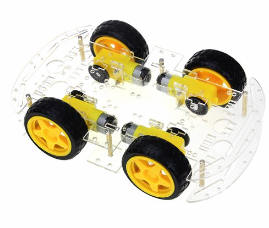 DIY Smart Car Transparent Chassis 4WD / Racing Car / Robot Car /  Wheels/Motors