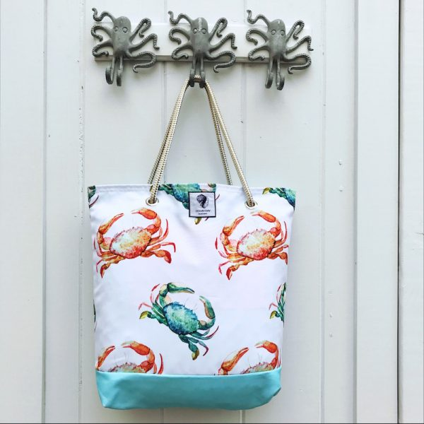 CRAB CROSSING BUCKET BAG