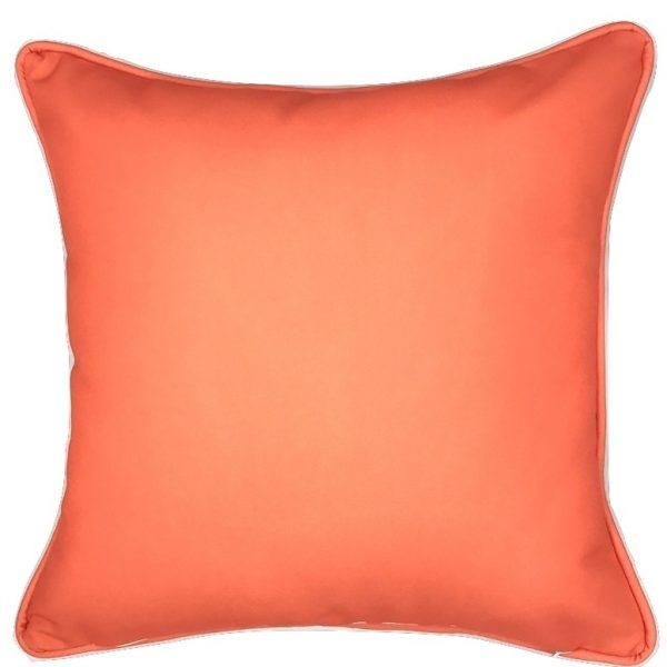 A FAN OF RED CORAL INDOOR/OUTDOOR PILLOW