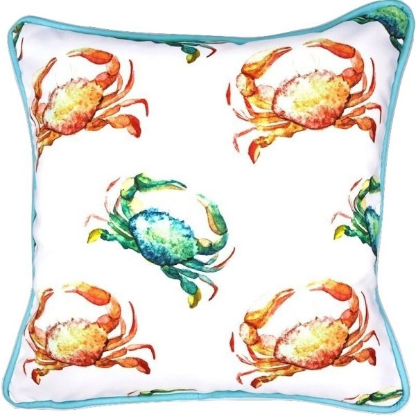 CRAB CROSSING INDOOR/OUTDOOR PILLOW