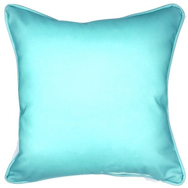 ... A FAN OF BLUE CORAL INDOOR/OUTDOOR PILLOW ...