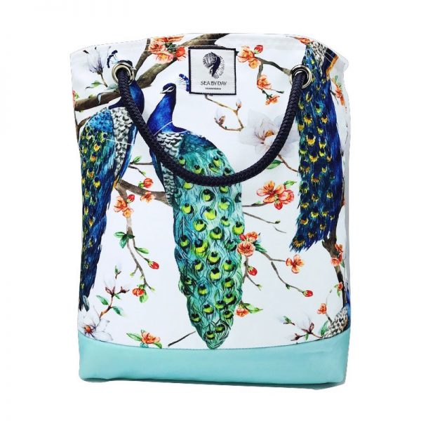 PEACOCK SNOW FLURRY BUCKET BAG