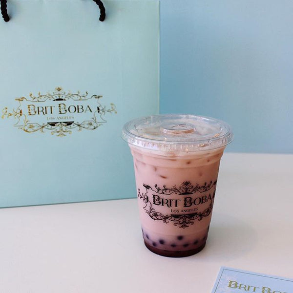 brit boba bags cups business card