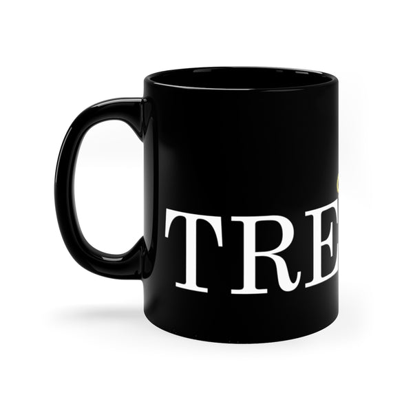 TRE45ON Black mug 11oz
