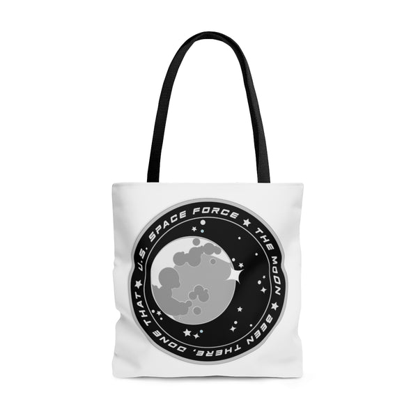 Space Farce: Moon Tote Bag