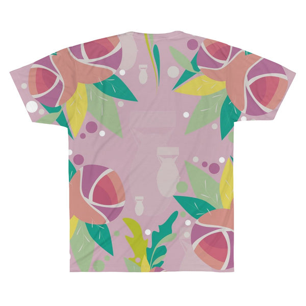 Fresh to Death Sublimation Tee: Pink Lavender