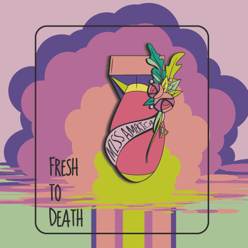 OGHMC:Fresh to Death: Enamel pin / Brooch: Pre-Order,Miss America Bomb