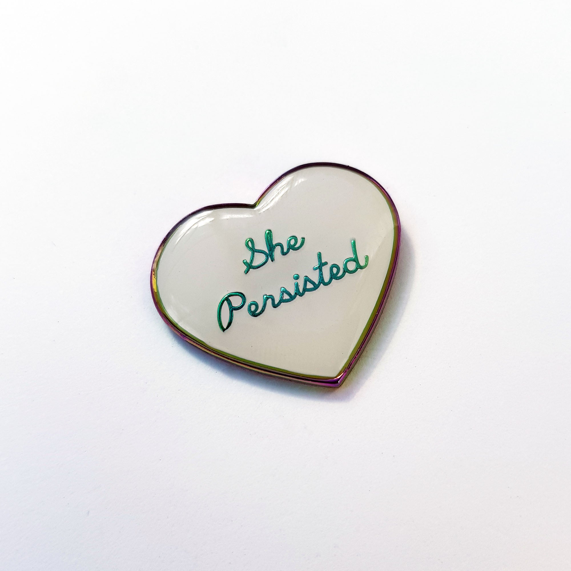She Persisted: Rainbow Metal Enamel Pin / Brooch