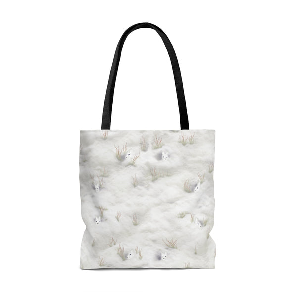 Snow Shoe Hare Tote Bag