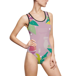 Fresh to Death One-Piece Swim: Pink Lavender