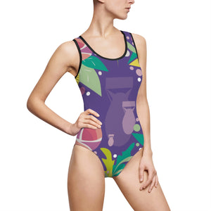 Fresh to Death One-Piece Swim: Ultra Violet