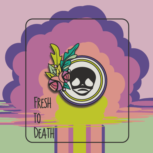 OGHMC:Fresh to Death: Enamel pin / Brooch: Pre-Order,Circular Skull Pin