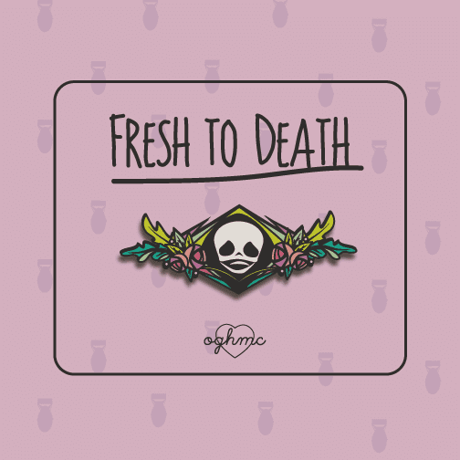 OGHMC:Fresh to Death: Enamel pin / Brooch: Pre-Order,Geometric Skull Brooch
