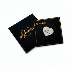 She Persisted Enamel Heart Pin / Brooch: Series 2
