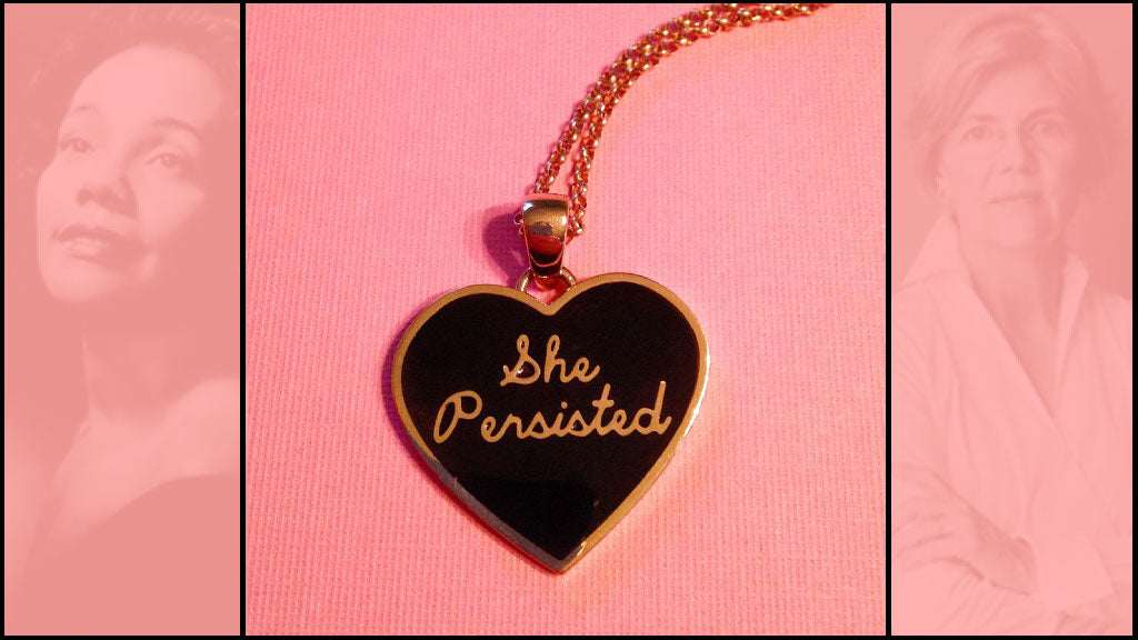 She Persisted 14K Gold Pendant