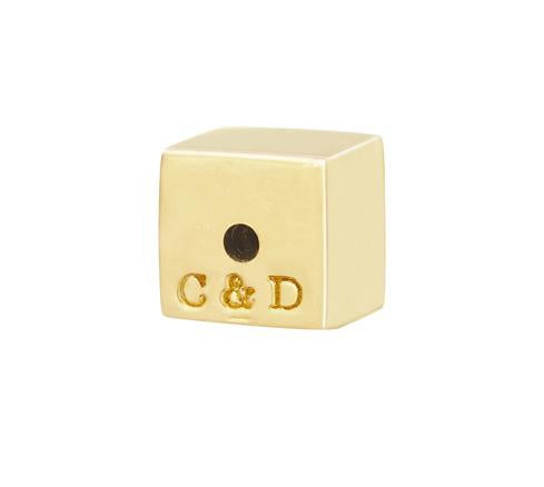 C&D CUBE EARRING BACK - YELLOW GOLD