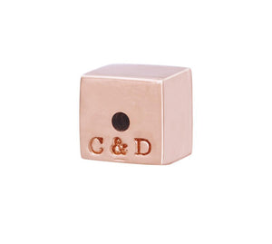 RECTANGLE STUDS - ROSE GOLD