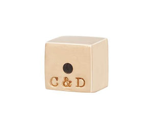 C&D CUBE EARRING BACK - ROSE GOLD