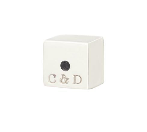 C&D CUBE EARRING BACK - SILVER