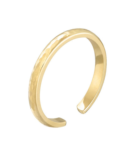 SKINNY CUFF RING - YELLOW GOLD