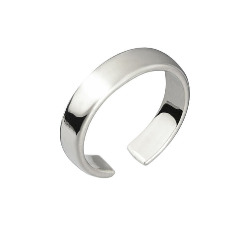 CUFF RING - SILVER PLATED BRASS