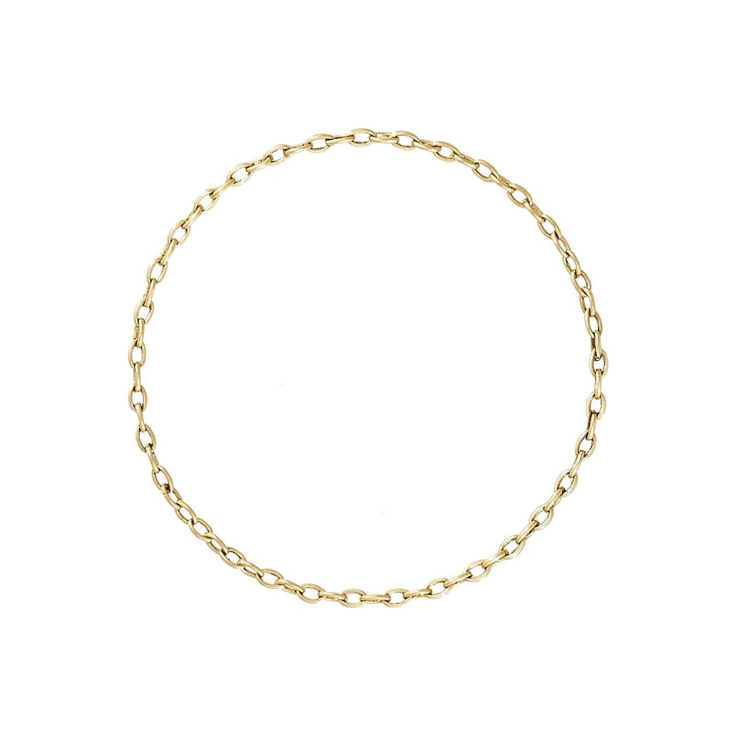 DELICATE CHAINLINK RING - YELLOW GOLD