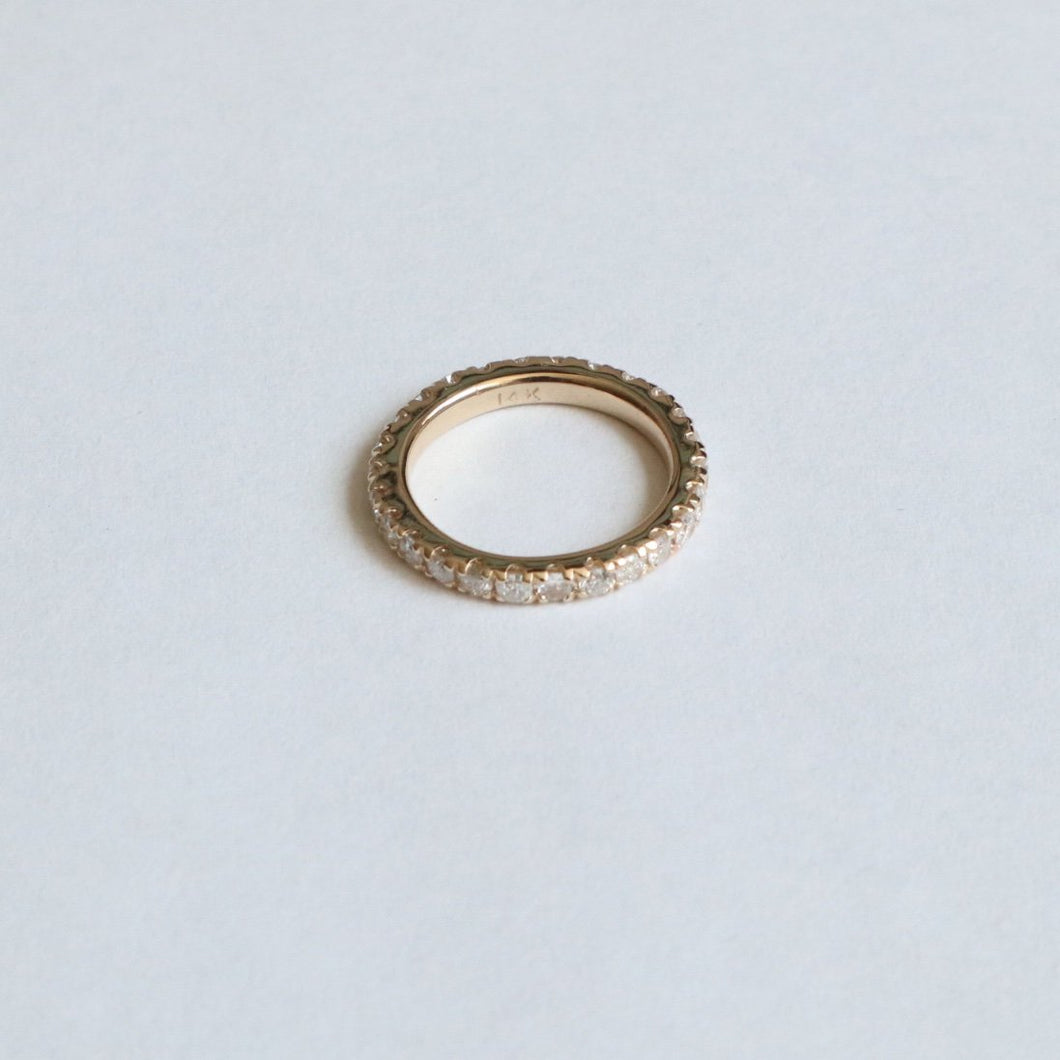 ETERNITY DIAMOND PINKY RING (14K YELLOW GOLD)