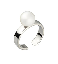 Load image into Gallery viewer, CUFF RING WITH PEARL - SILVER