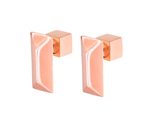 Load image into Gallery viewer, RECTANGLE STUDS - ROSE GOLD