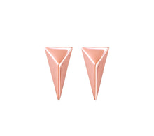 Load image into Gallery viewer, TRIANGLE STUDS - ROSE GOLD
