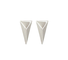 Load image into Gallery viewer, TRIANGLE STUDS - SILVER