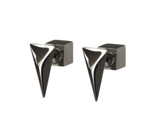 Load image into Gallery viewer, TRIANGLE STUDS - BLACK