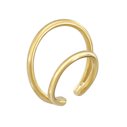 DOUBLE RING CUFF - YELLOW GOLD