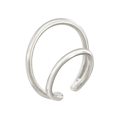 DOUBLE RING CUFF - STERLING SILVER