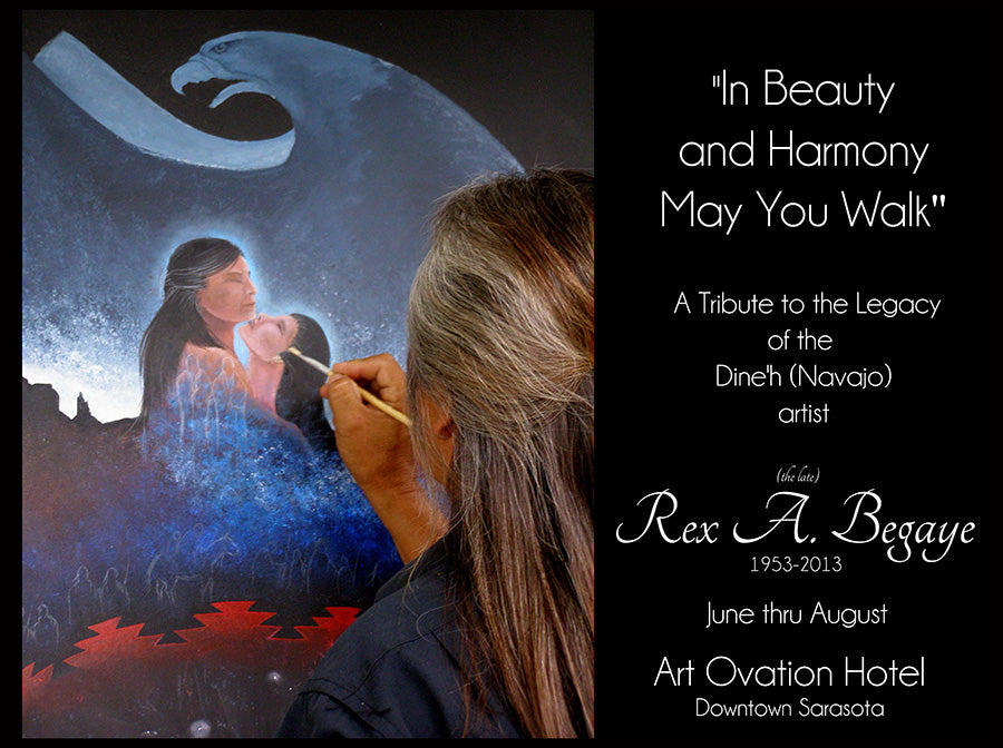 "First Feather Gallery Announces collaboration with Art Ovation Hotel... ""In Beauty and Harmony May You Walk"" exhibition"
