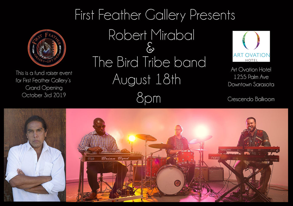 August 18th Robert Mirabal and The Bird Tribe Collaborate at Art Ovation Hotel