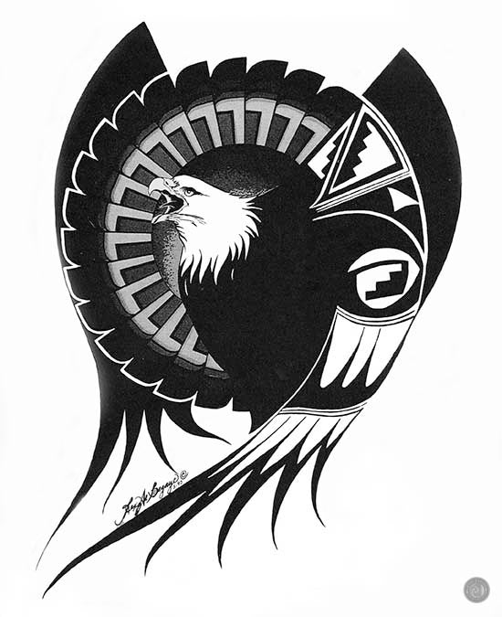 Pride of an Eagle (giclee print)(bw)