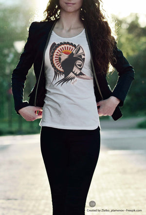 Pride of an Eagle(Designer Women's T-Shirt)