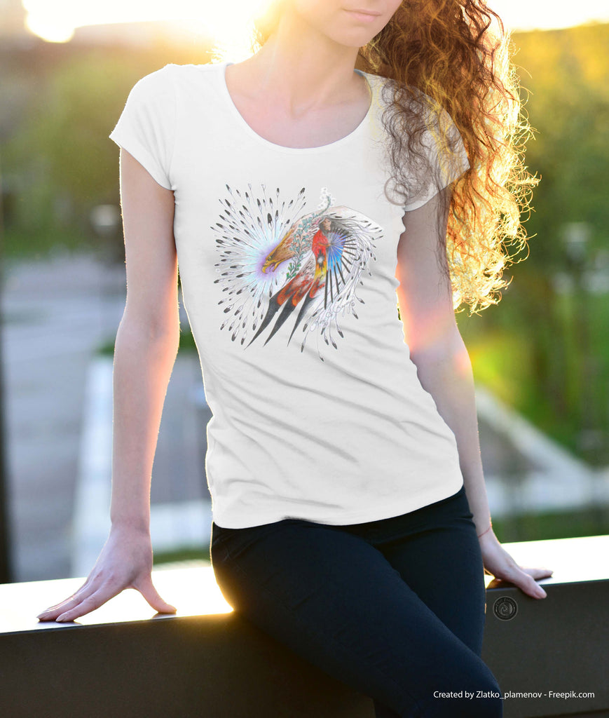 Surrounded in Beauty (Women's Designer T-Shirt)