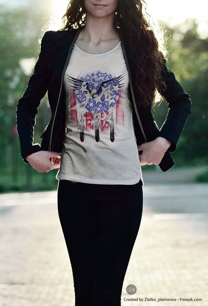 Flight of Honor (Women's Designer T-Shirt)