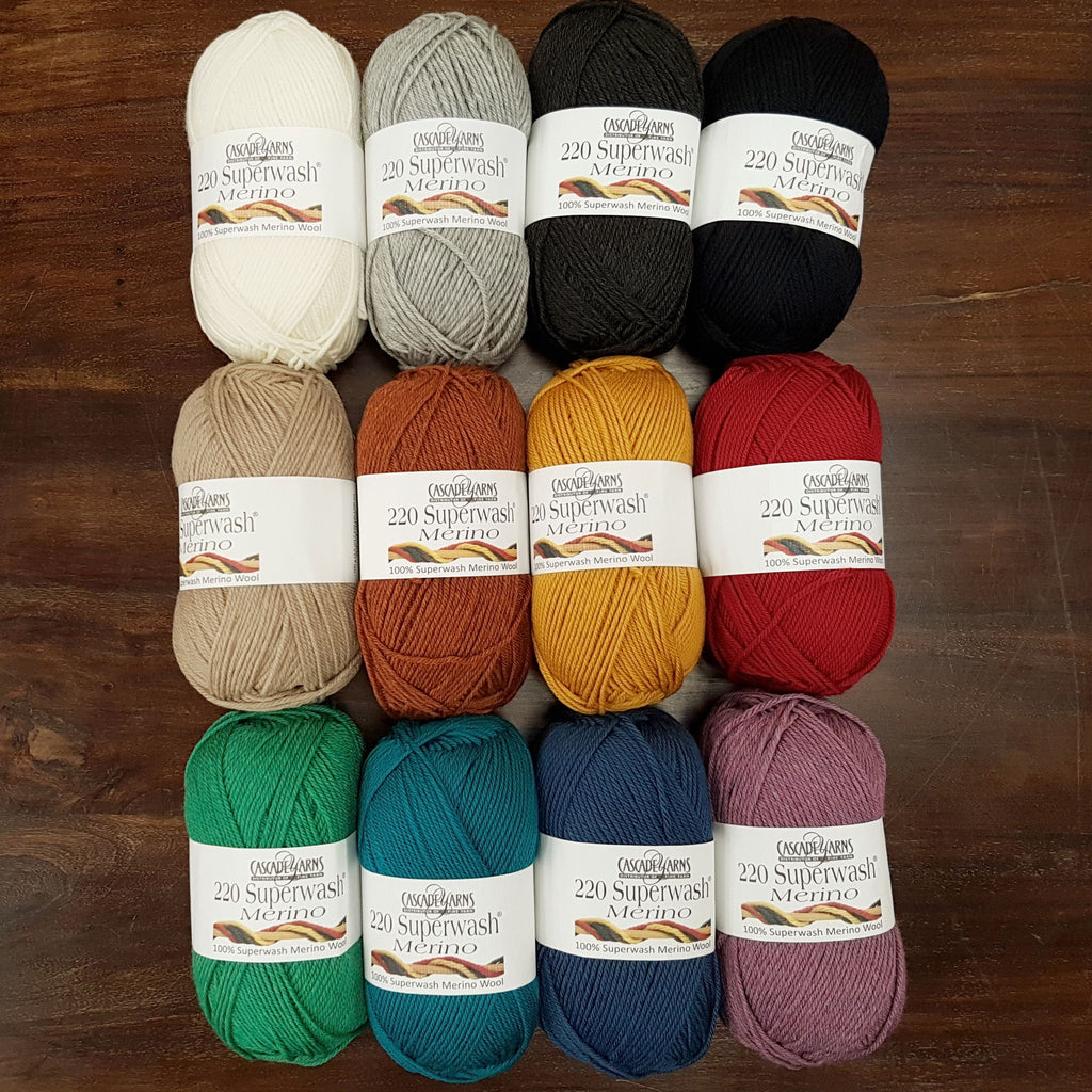 New Arrival: Cascade 220 Superwash Merino