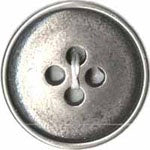 "Plastic ""Vintage Metal"" Button"