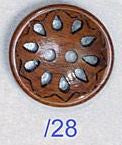 Wood Filigree Button W12901/28