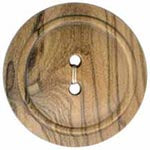 Wood Convex Rimmed Button