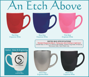 Bistro Mug - 6 color options