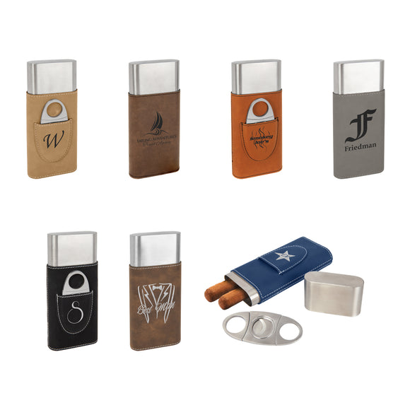 Cigar Case with Cutter - 7 color options